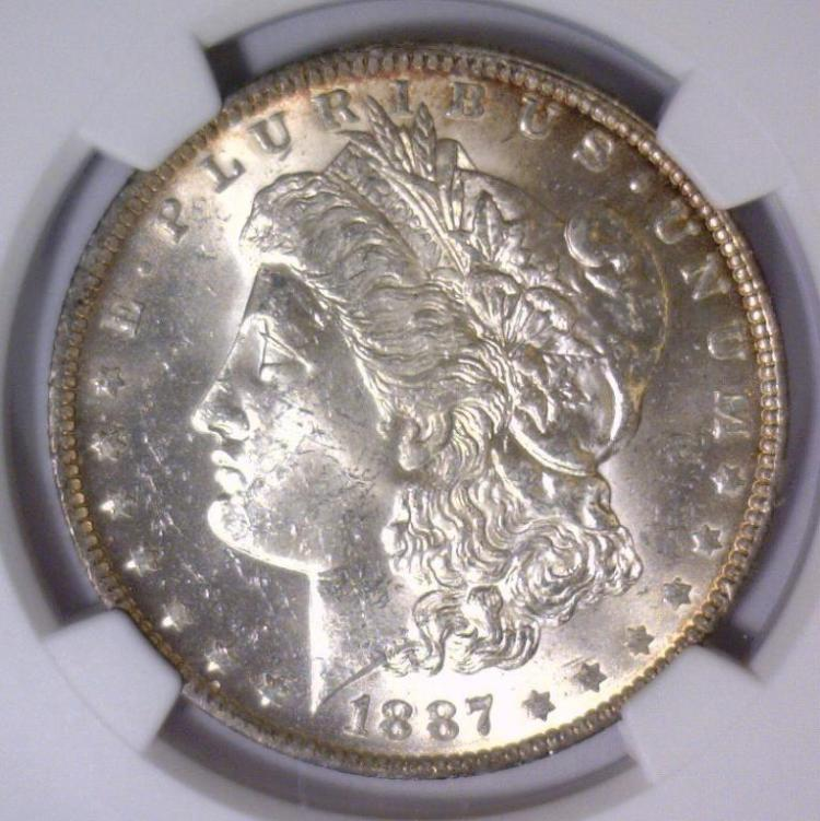 1887-O Morgan Silver Dollar NGC MS62