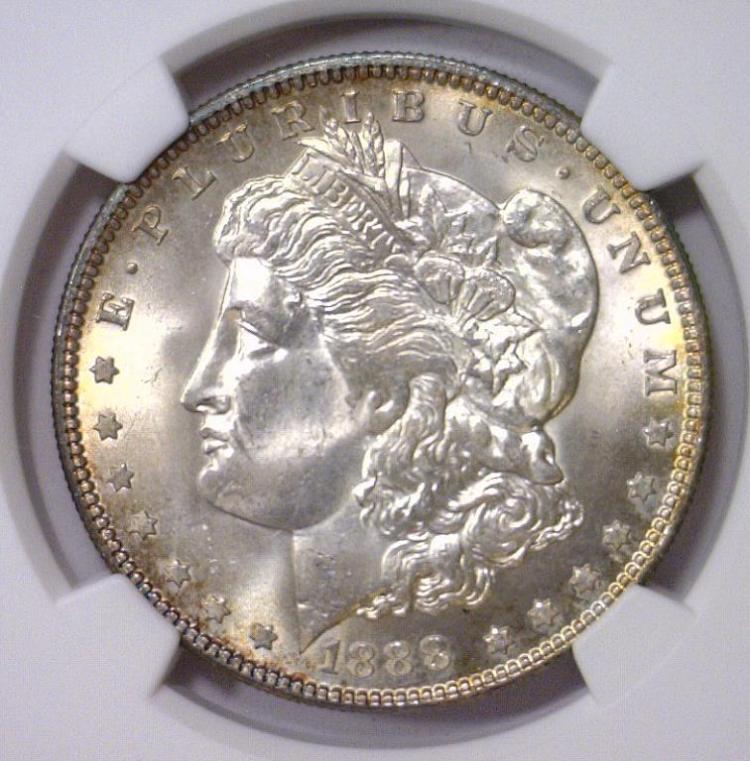1888 Morgan Silver Dollar NGC MS63
