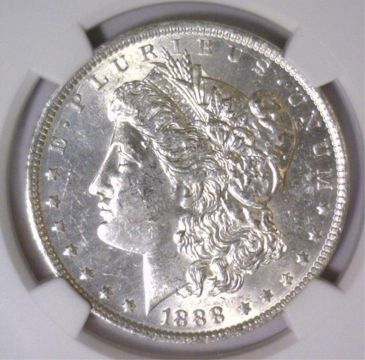 1888-O Morgan Silver Dollar NGC MS62