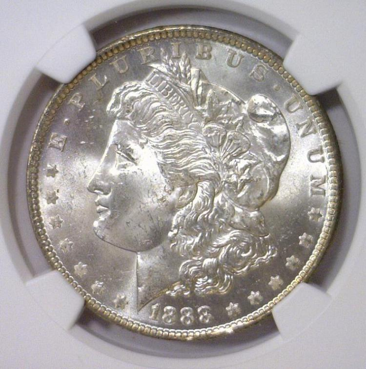 1888-O Morgan Silver Dollar NGC MS63