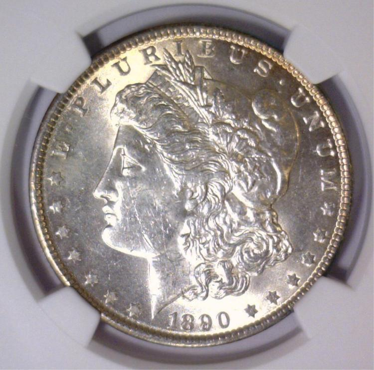 1890 Morgan Silver Dollar NGC MS62