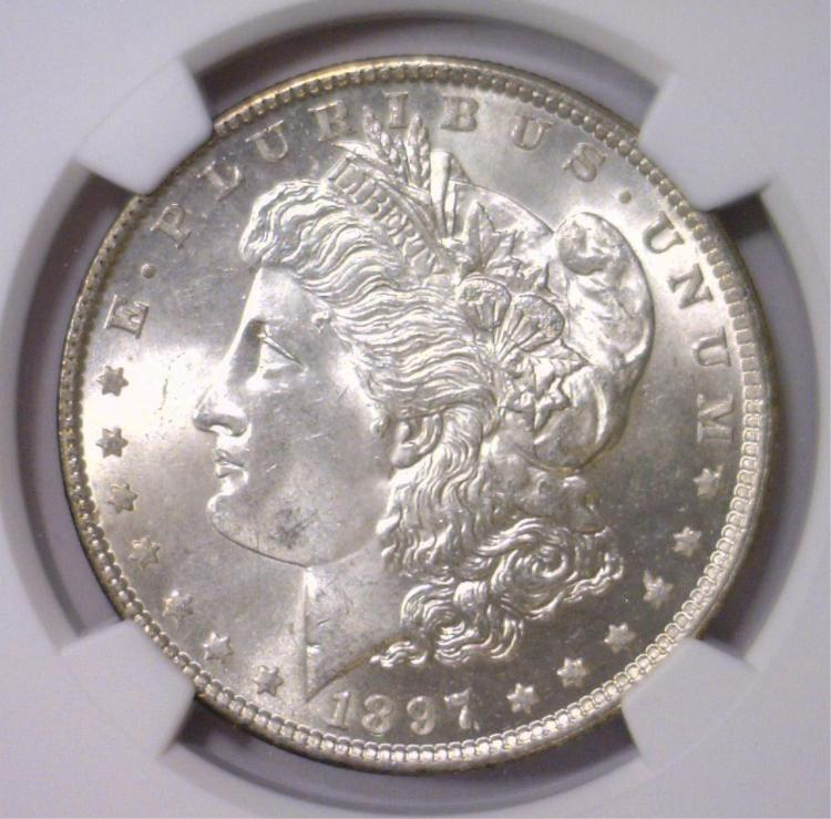 1897 Morgan Silver Dollar NGC MS64