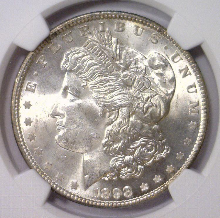 1898 Morgan Silver Dollar NGC MS64