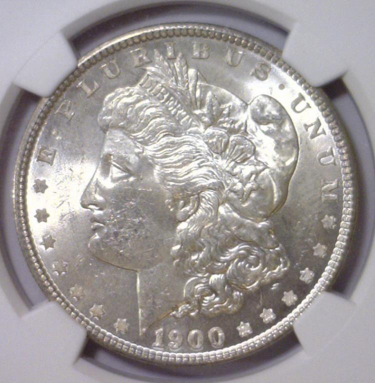 1900 Morgan Silver Dollar NGC MS63