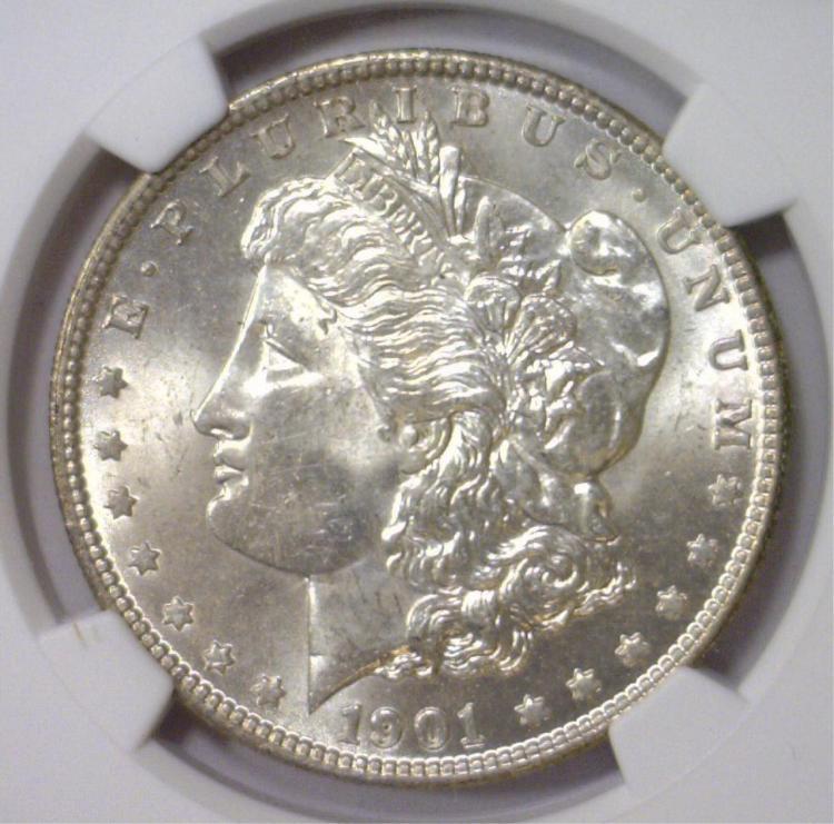 1901-O Morgan Silver Dollar NGC MS63