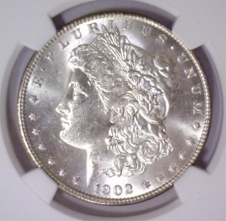 1902-O Morgan Silver Dollar NGC MS63