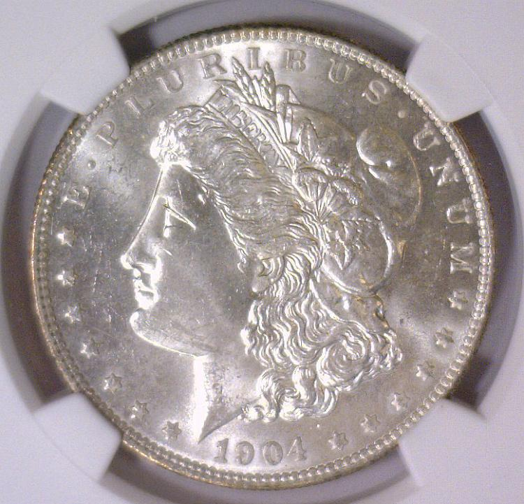 1904-O Morgan Silver Dollar NGC MS63
