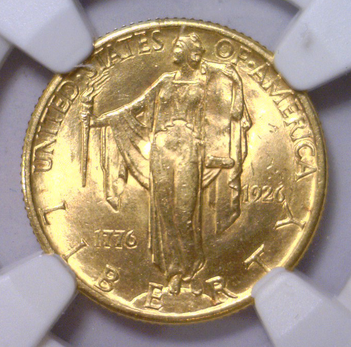 1926 $2.5 Sesquicentennial Gold Commem. NGC MS63
