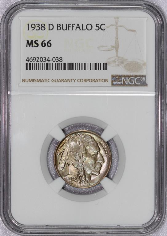 1938-D Buffalo Nickel NGC MS66