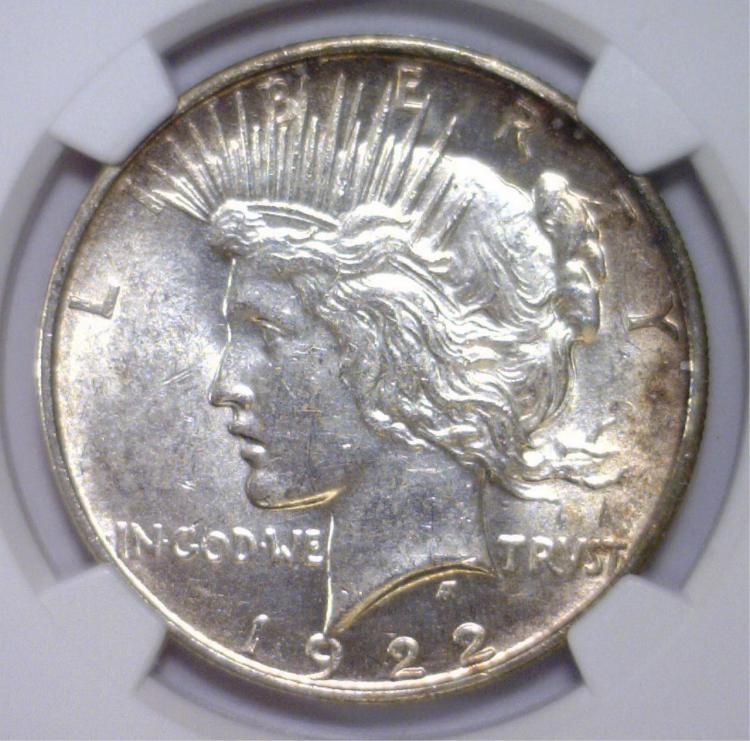 1922-D Peace Silver Dollar NGC MS62