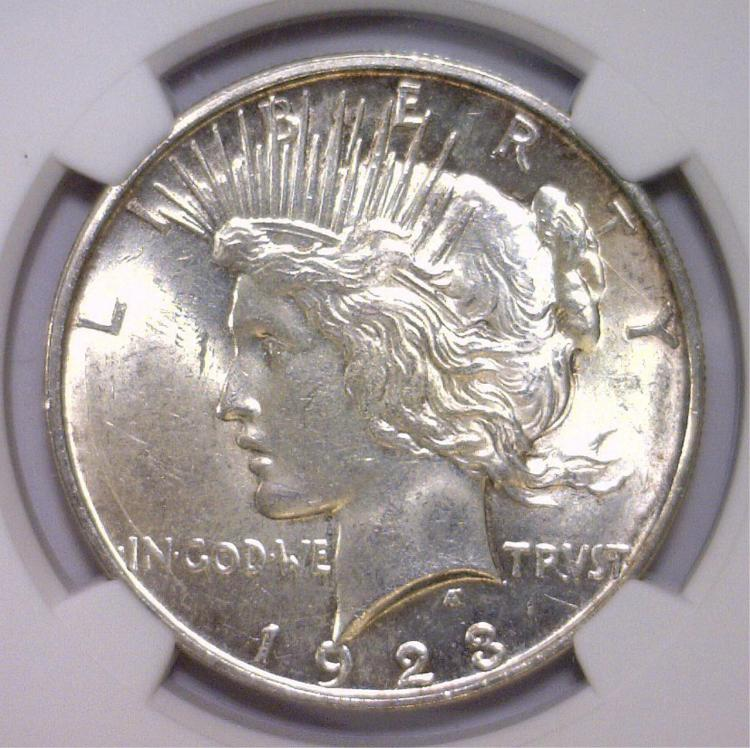 1923-D Peace Silver Dollar NGC MS62