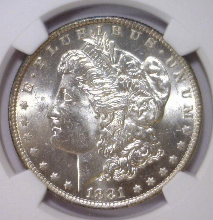 1881-O Morgan Silver Dollar NGC MS62