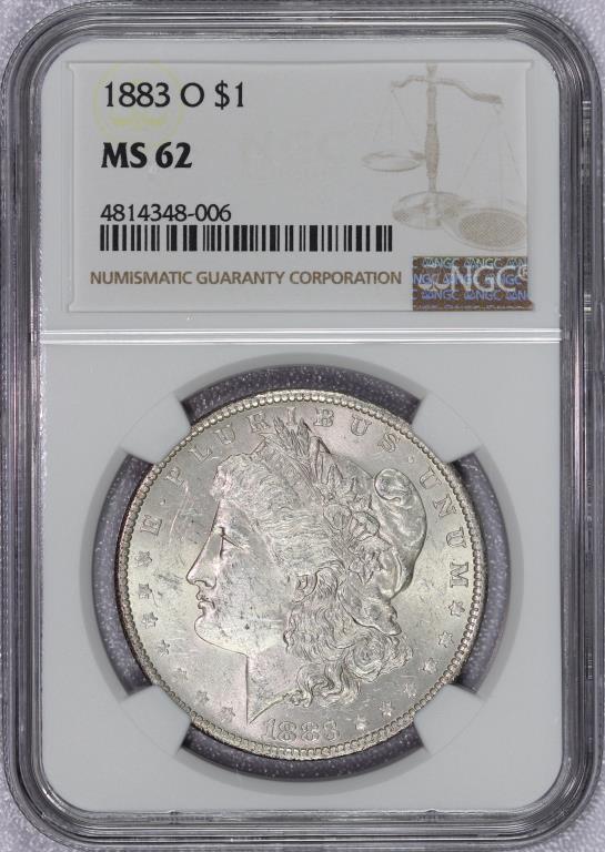 1883-O Morgan Silver Dollar NGC MS62