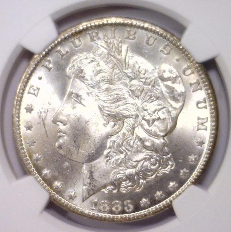 1883-CC Morgan Silver Dollar NGC MS63