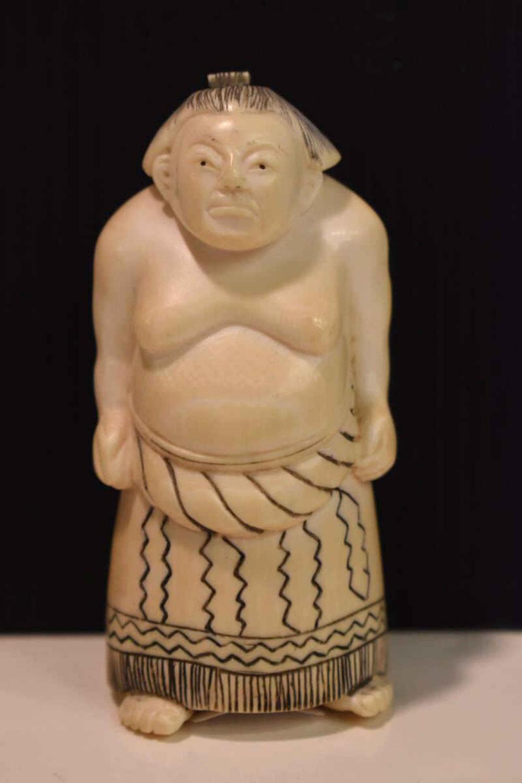 Netsuke Sumo Wrestler Figurine