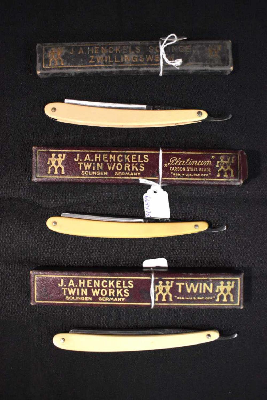 Lot of 3 J.A. Henckels Straight Razors