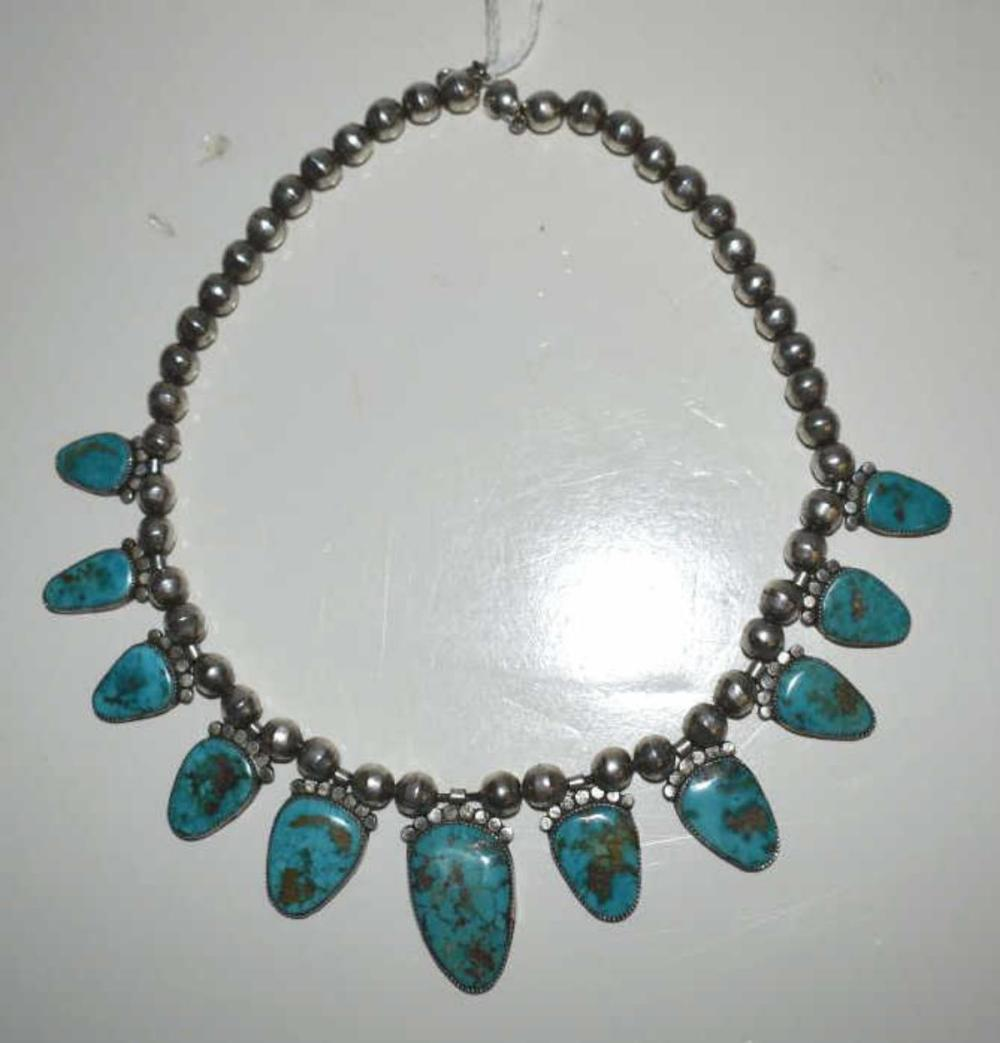 Native American Zuni Style Sterling Turquoise