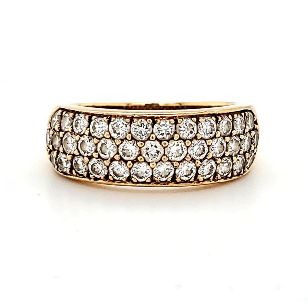 18kt yellow gold Oscar Heyman diamond band