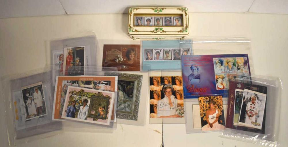 Group of Princess Diana Stamps