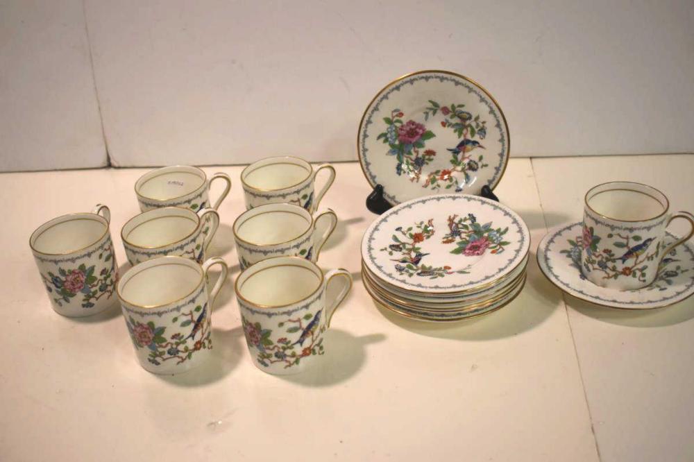 Aynsley Flat Cup Demitasse Set In Pembroke Pattern