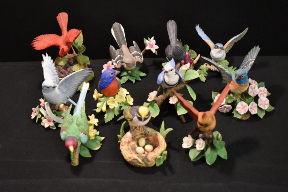 Collection of 11 Lenox Porcelain Bird Figurines