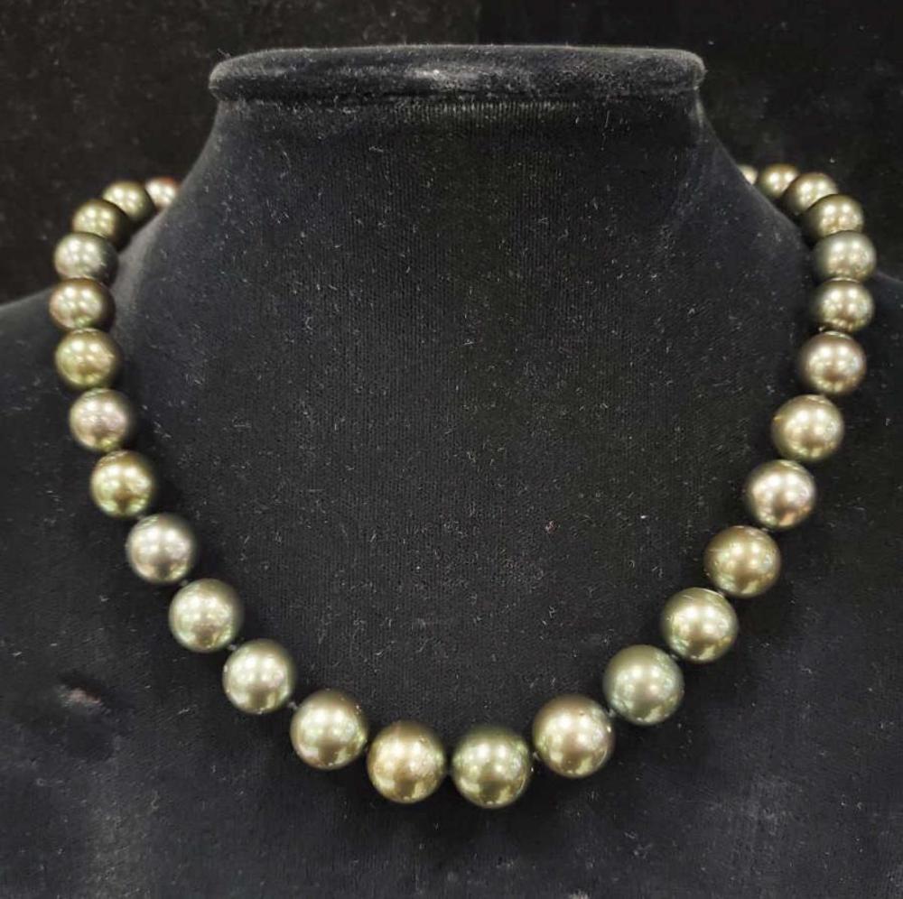 "17.5"" strand of Tahitian pearls"