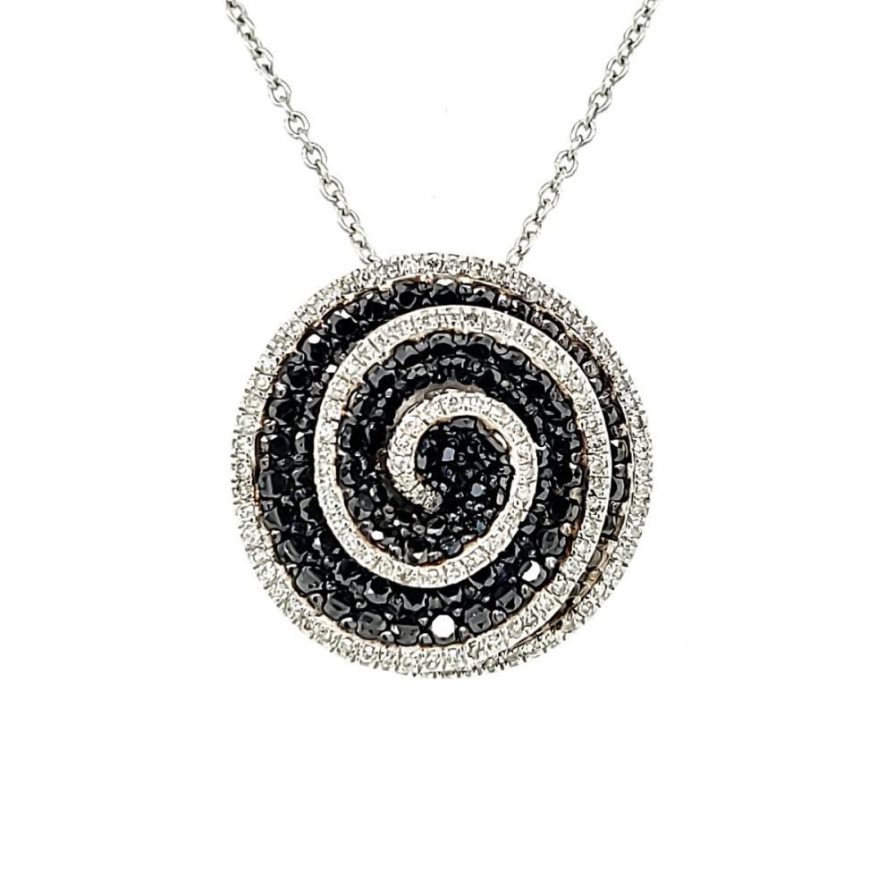 14kt black and white diamond pendant by Effy