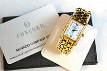 Lady's 18kyg Concord Veneto Diamond Watch