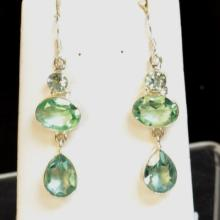 Sterling & Aquamarine Earrings