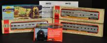 3 Railroad Cars, Locomotive & Power Pack