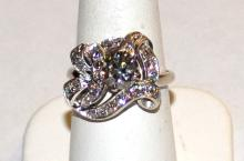 Vintage 14kwg Diamond Ring 1.25ct