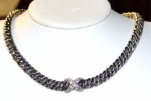 Sterling Diamond Lyrica Necklace David Yurman