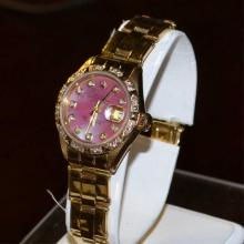 Lady's 18kyg Rolex Datejust Diamond Watch