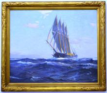 Signed oil on canvas by Charles R Patterson