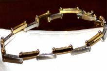 14k 2Tone Contemporary Bracelet