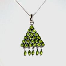 Sterling Peridot Necklace