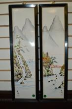 Pair Of Framed Japanese Tiles