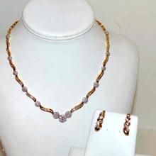 14kyg Diamond Necklace & Earrings