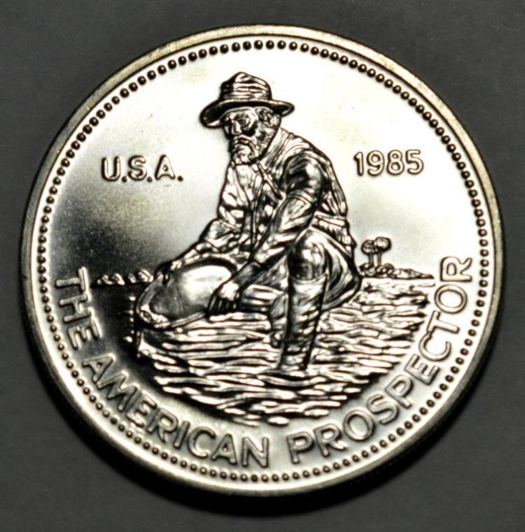 1985 engelhard prospector 1 oz silver bu round for Gulf coast coin and jewelry