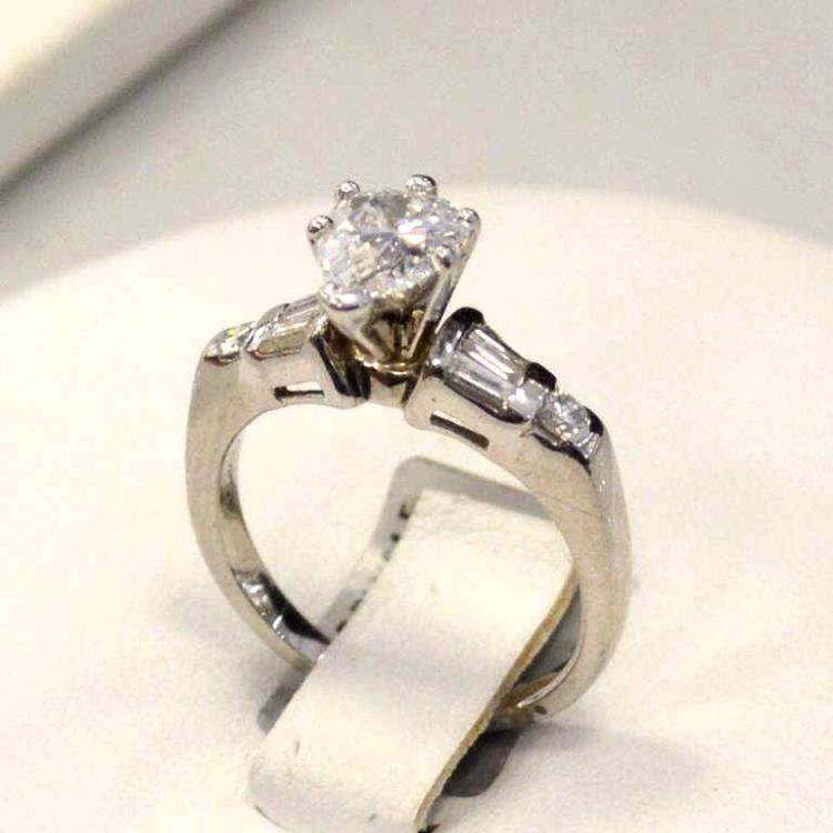 Platinum 95ct pear shape diamond ring for Gulf coast coin and jewelry