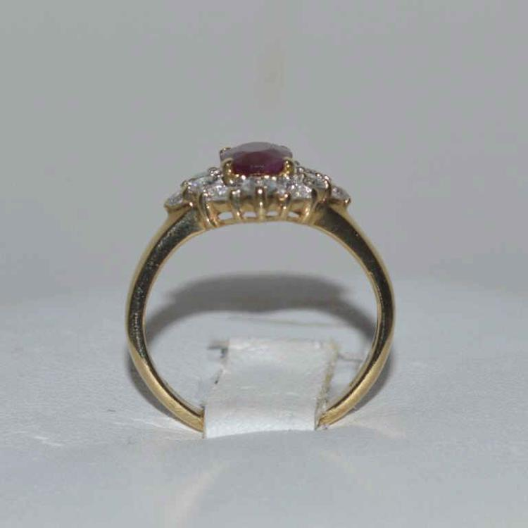 14kt yellow gold ruby and diamond ring for Gulf coast coin and jewelry