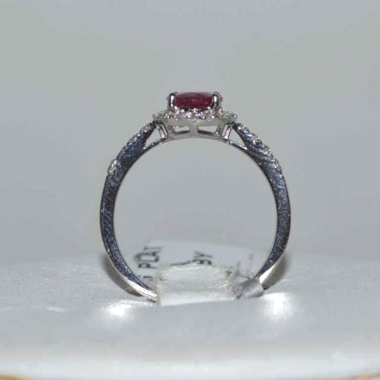 Platinum unheated ruby and diamond ring for Gulf coast coin and jewelry