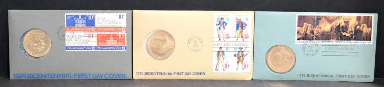 USA – 1974-76 BICENTENNIAL FIRST DAY COVERS(FDC's)