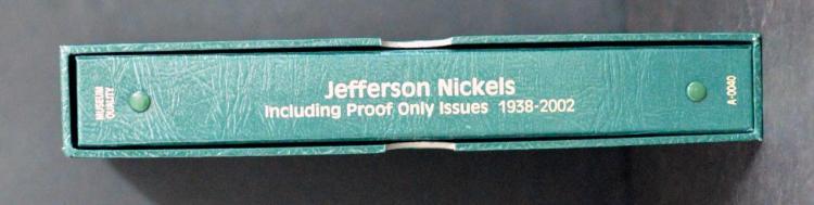 1938-2002 Jefferson Nickel Set BU + Proof Only