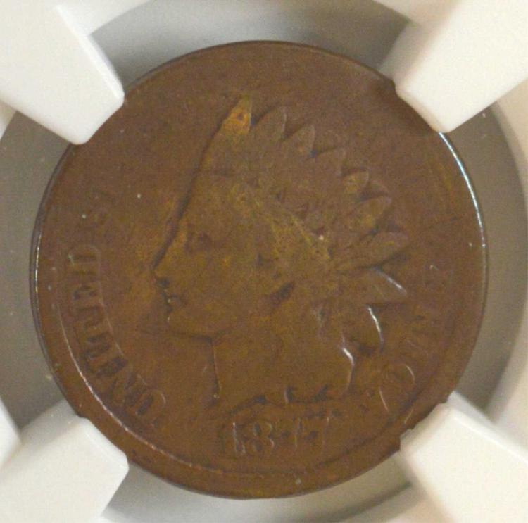 1877 Indian Head Cent NGC Good Details I/C