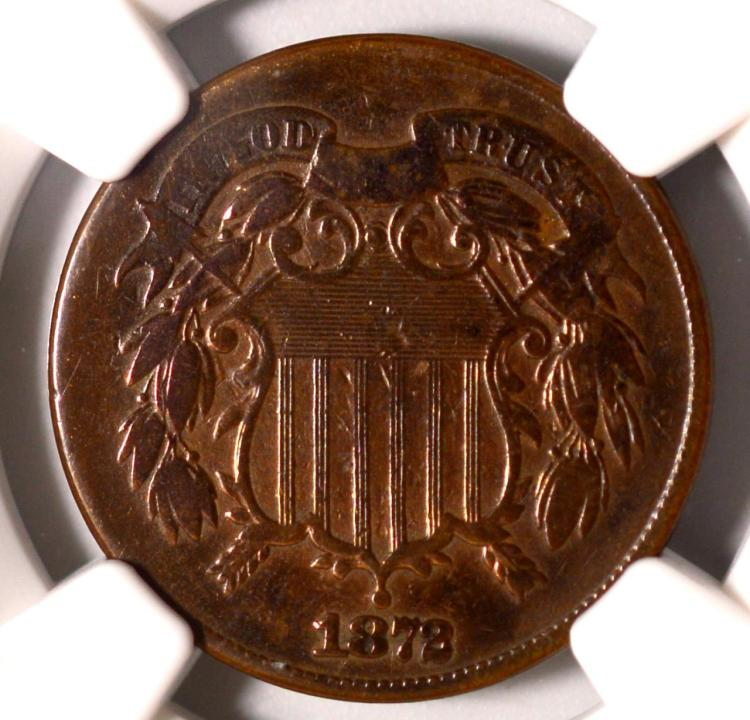 1872 Two-Cent Piece NGC Fine Details I/C