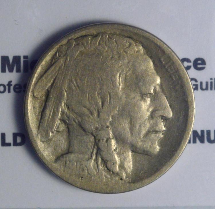1913-D Type 1 Buffalo Nickel Fine
