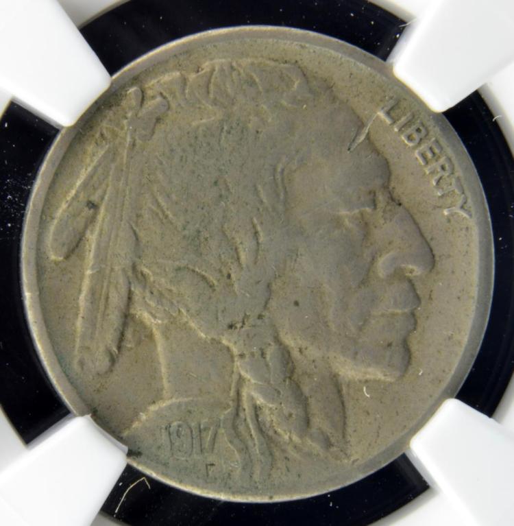 1917-S Buffalo Nickel NGC XF Details O/S