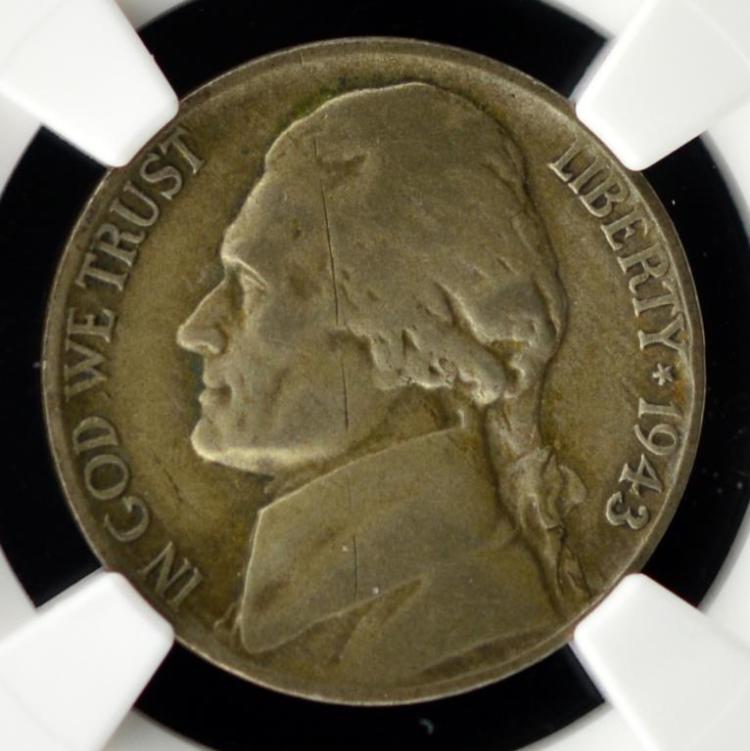 1943/2 Jefferson Nickel NGC Fine Details O/S