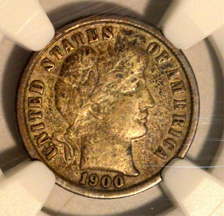 1900-S Barber Dime NGC VF 35